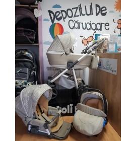 Carucior copii 3 in 1 Reggio Adamex Royal Beige Q205