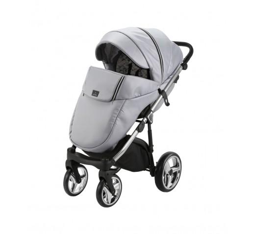 Carucior copii 3 in 1 Chantal PRO Adamex Special Edition Grey Leather Silver CHP109