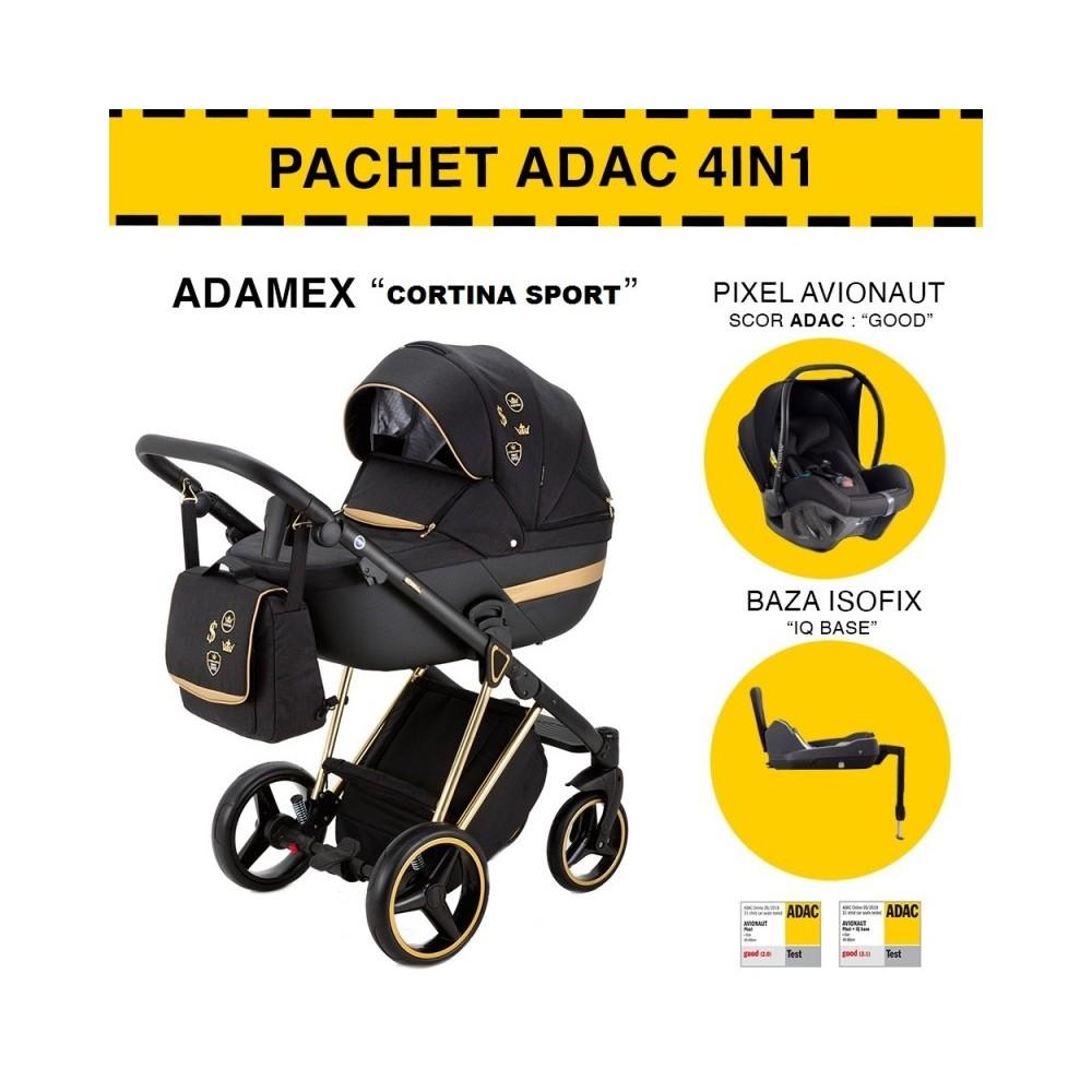 CARUCIOR 4 IN 1 CORTINA ADAMEX BLACK GOLD CS400 PACHET ADAC