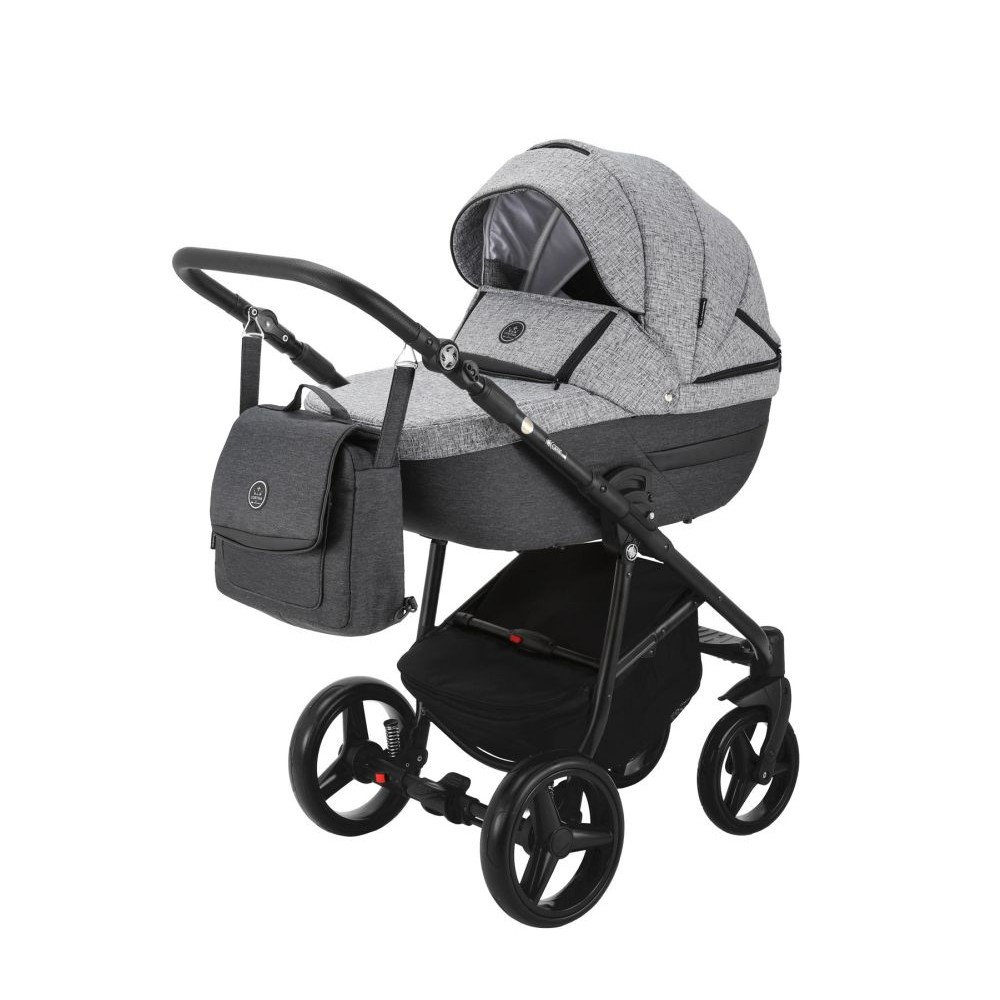 Carucior copii 3 in 1 Cortina PRO Adamex Dark Grey CP113