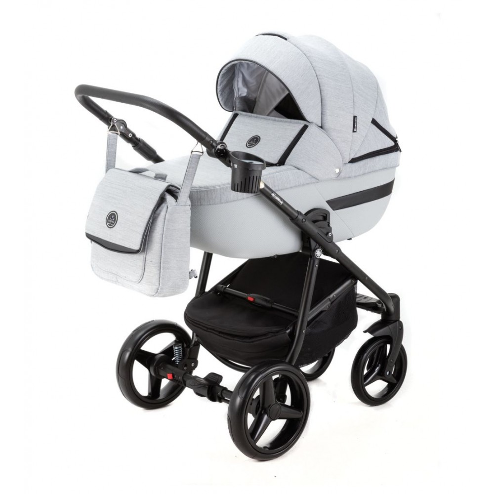 Carucior copii 3 in 1 Cortina PRO Adamex Light Grey CP222