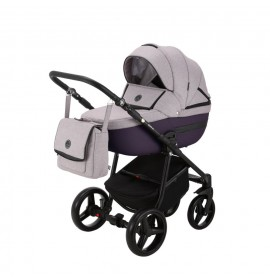 Carucior copii 3 in 1 Cortina PRO Adamex Purple CP224