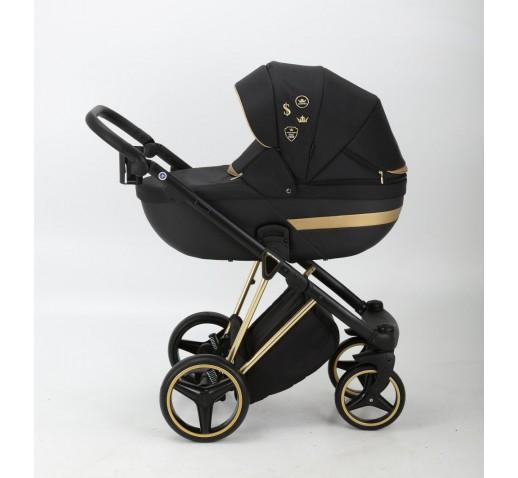 Carucior copii 3 in 1 Cortina Sport Adamex Special Edition Black Gold CS400