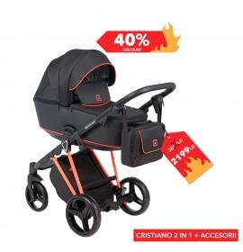 Carucior copii 2 in 1 Cristiano Adamex Special Edition FLUO Orange