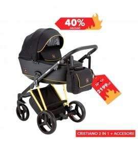 Carucior copii 2 in 1 Cristiano Adamex Special Edition FLUO Yellow
