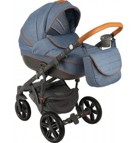 Carucior copii 3in 1 Adamex Encore Denim Sense X2