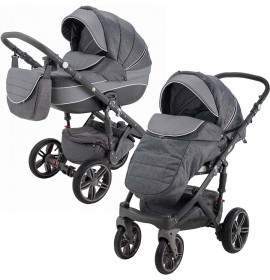 Carucior copii 3 in 1 Encore Adamex Grey Passion X6