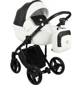 Carucior copii 3 in 1 Adamex Luciano Q253 White Pure