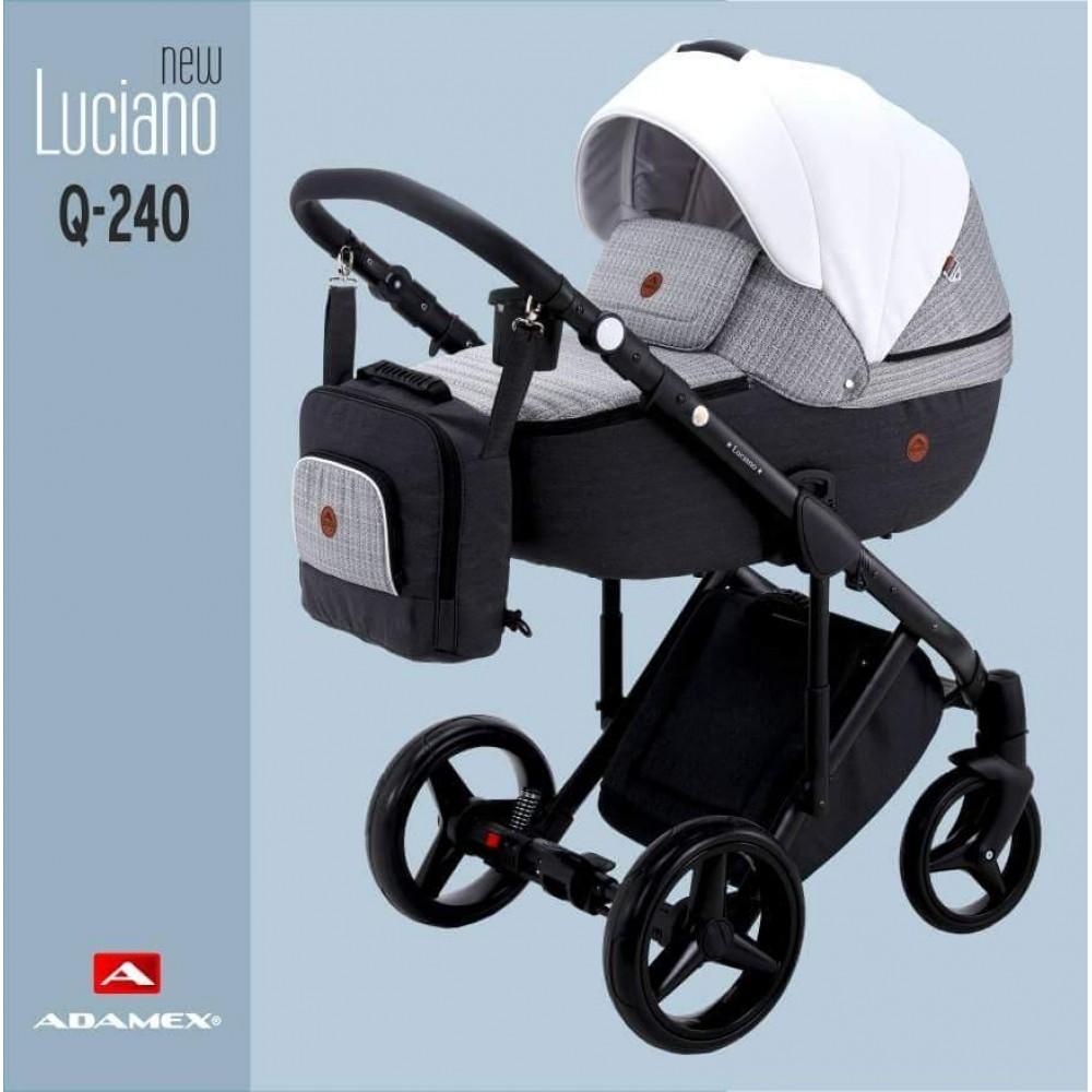 Carucior copii 3 in 1 Adamex Luciano Q240 Deluxe Urban Mix Leather
