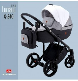 Carucior copii 3 in 1 Adamex Luciano Q240 Deluxe Urban Mix Leather