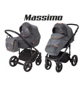 Carucior copii 3 in 1 Massimo Adamex V2 Grey