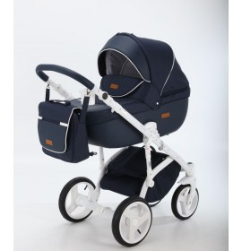 Carucior copii 3 in 1 Adamex Massimo Denim