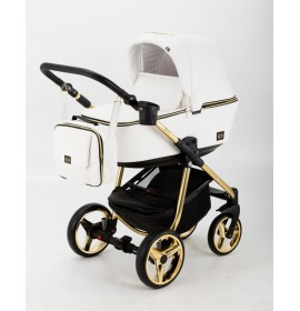 Carucior copii 3 in 1 Reggio Adamex Special Edition White Pure Gold Y211