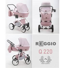 Carucior copii 3 in 1 Reggio Adamex Queen of Pink Q220