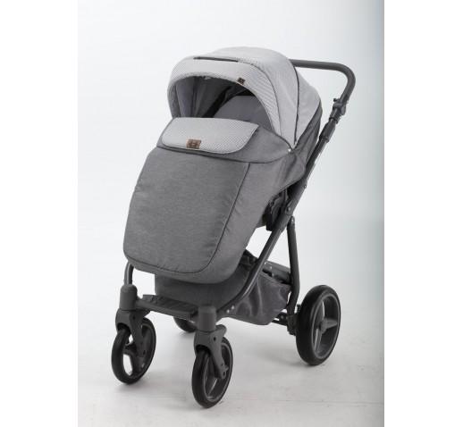 Carucior copii 3 in 1 Reggio Adamex Platinum Grey Y39