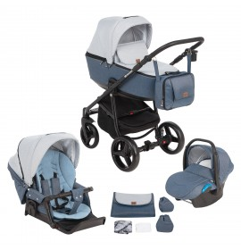 Carucior copii 3 in 1 Reggio Adamex Blue Sky Y41