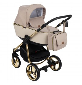 Carucior copii 3 in 1 Reggio Adamex Special Edition Gold Cream Y847