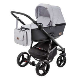 Carucior copii 3 in 1 Reggio Adamex Black Grey Y58