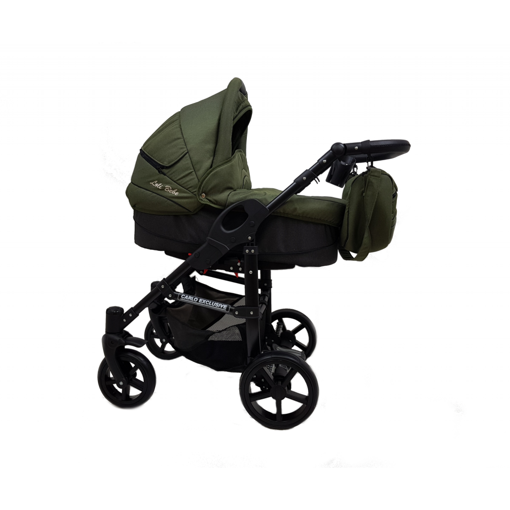 Carucior copii 3 in 1 Carlo EXCLUSIVE Army