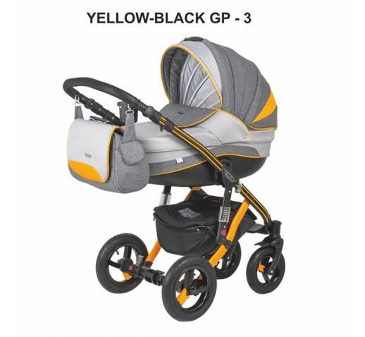 Carucior copii 3 in 1 Aspena Grand Prix Yellow