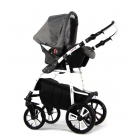 Carucior copii 3 in 1 Kayon Red Light Grey