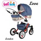Carucior copii 3 in 1 Lolibebe LOVE London
