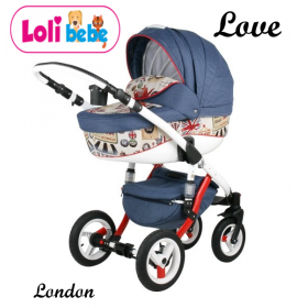 Carucior copii 3 in 1 Lolibebe LOVE London