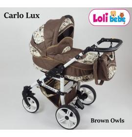 Carucior copii 3 in 1 Carlo Lux Brown Owls