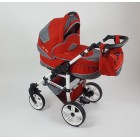 Carucior copii 3 in 1 Carlo Lux Baby Seka Red