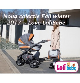 Carucior copii 3 in 1 Lolibebe LOVE Fall Winter Beige Grey