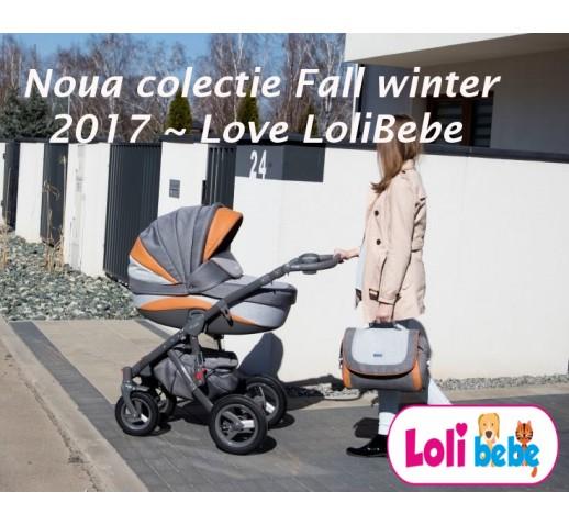 Carucior copii 3 in 1 Lolibebe LOVE Fall Winter Beige Grey