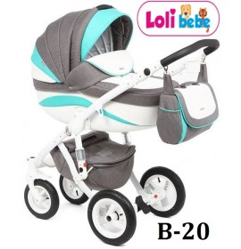 Carucior copii 3 in 1 Lolibebe LOVE Fall Winter Mint Grey