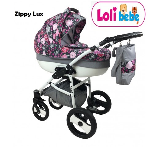 Carucior 3 in 1 Zippy Lux Baby Seka Pink Flowers