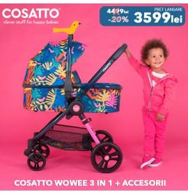 Carucior 3 in 1 Cosatto Wowee Tropicana Pachet Extra