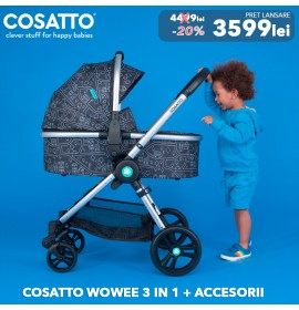 Carucior 3 in 1 Cosatto Wowee My Town Pachet Extra