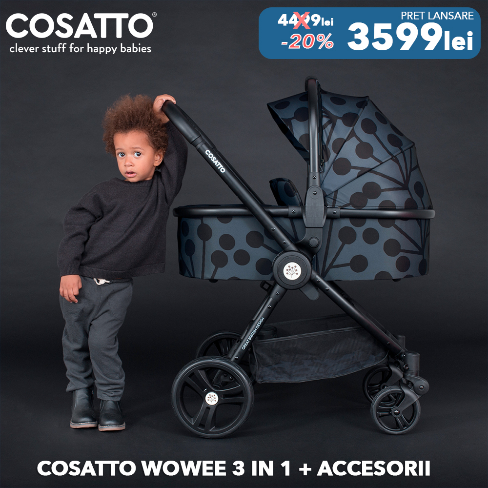 Carucior 3 in 1 Cosatto Wowee Lunaria Pachet Extra