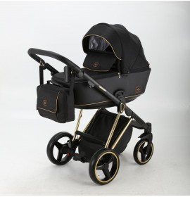 Carucior copii 3 in 1 Cristiano Adamex Special Edition Black Gold CR407
