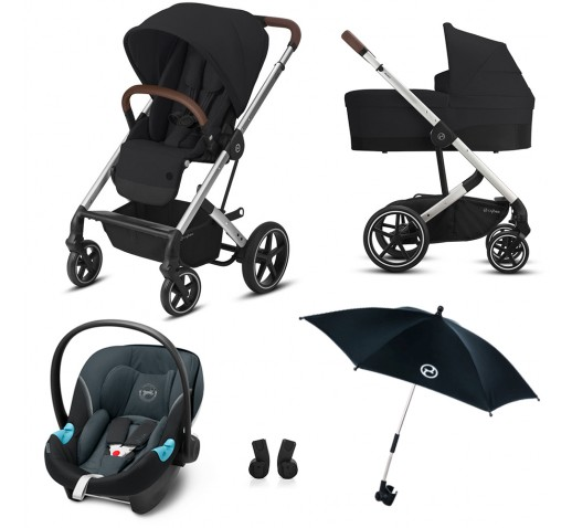 Cybex Balios S Lux Extra Summer Pack 4 in 1  Deep Black