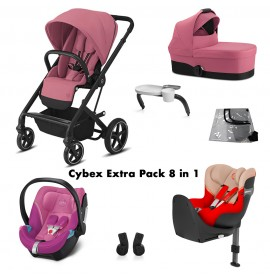 Cybex Balios S Lux Extra Pachet 8 in 1 Culoare Magnolia Pink