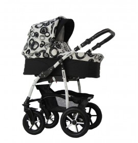 Carucior copii 3 in 1 Danco Black & White