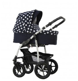 Carucior copii 3 in 1 Danco Bluemarin Dots