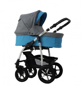 Carucior copii 3 in 1 Danco Charcoal Grey Blue