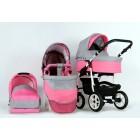 Carucior 3 in 1 Danco Pink Princess