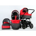 Carucior copii 3 in 1 Danco Dark Grey Red