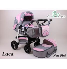 Carucior copii 2 in 1 Luca cu port-bebe Eko Pink
