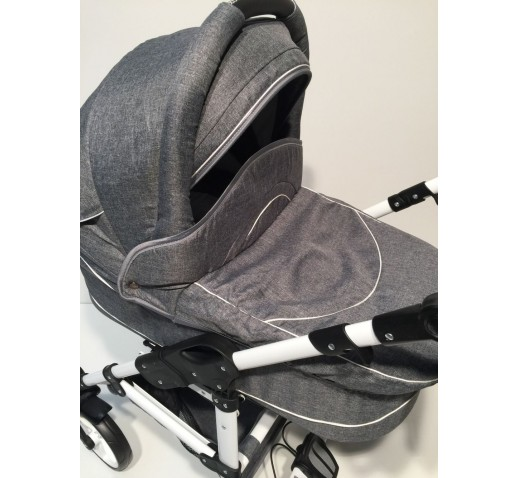 Carucior copii 3 in 1 Carlo Lux Baby Seka Grey