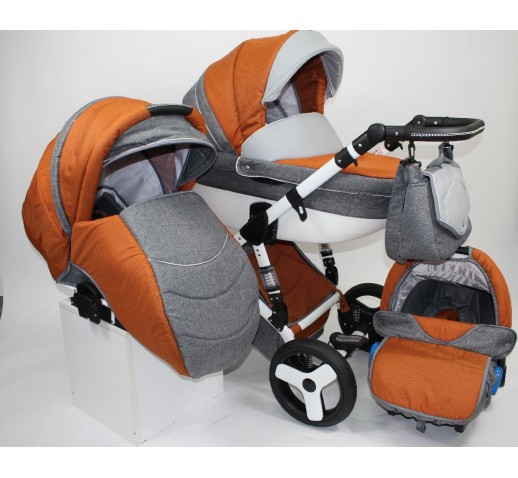 Carucior 3 in 1 Torrino Baby Seka Orange